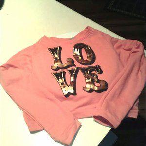 Vintage Midriff Sweatshirt Size XL girls/XSjuniors